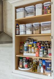 how to organize kitchen cabinet pantry easy organized baking and spice cabinet kelley nan