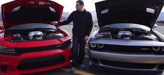 dodge charger vs challenger charger vs challenger 1400hp hellcat battle cars