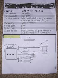vw golf central locking wiring diagram with template pics 4