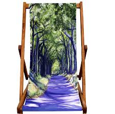 art print deckchair country lane by smart deco