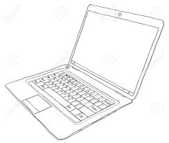 laptop computer b w stock photo picture and royalty free image