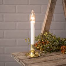 Electric Candle Lights For Windows Designs Electric Welcome Candle L With Large Metallic Gold Base