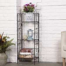 wall shelves amazon amazon amagabeli 3 tier wire shelf indoor outdoor shelving unit