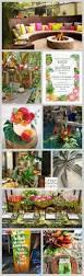 tropical backyard engagement party unique pastiche events