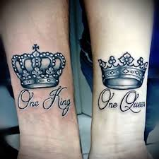 11 king and queen tattoos for couple
