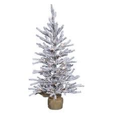 artificial flocked christmas tree christmas lights decoration