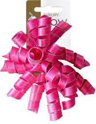 curly ribbon fuchsia satin curly ribbon gift bow 1 75 a fabulous range