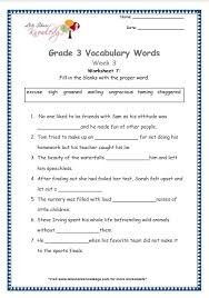 grade 3 vocabulary worksheets week 3 lets share knowledge