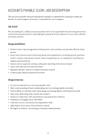 Office Clerk Job Description For Resume by Accounting Manager Job Description Job Brief Accounting Manager