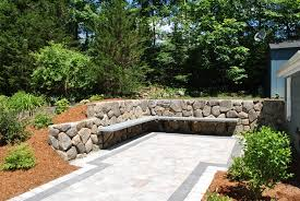 natural stone wall solutions retaining and free standing stone walls