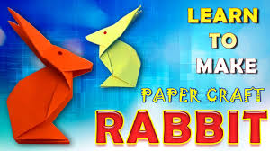 how to make a paper rabbit crafts for kids easy paper folding