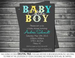 boys baby shower invitation gray yellow turquoise