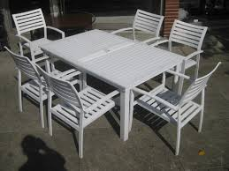 White Metal Patio Chairs White Metal Garden Table And Chairs Clean Modern Office Modern