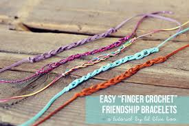 make friendship bracelet easy images Easy finger crochet friendship bracelets jpg