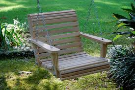 modern concept swinging porch chair and wooden outdoor swing chair