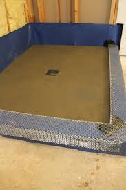Chloraloy Shower Pan by Creating A Threshold Or Curb For Your Shower