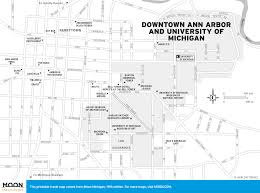 Western Michigan University Map by Printable Travel Maps Of Michigan Moon Travel Guides