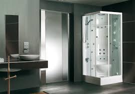 elegant calming contemporary bathroom design idea with great