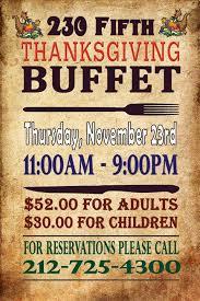 fifth thanksgiving buffet dinner 230 fifth best heated rooftop