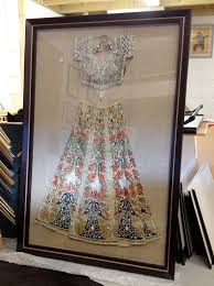 framed wedding dress a framed indian wedding dress i want this in my home in a