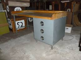 Kitchen Island Prep Table by Kitchen Island Food Prep Table With Maple Top Steel Frame And