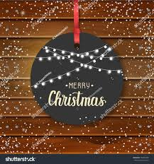 quote happy christmas vector christmas vintage label hand made stock vector 732894430