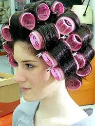 sissified permed hair i d love to work as a hairdresser i could wear rollers all day