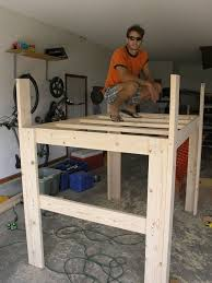 Plans For Building A Loft Bed With Desk by How To Build A Loft Bed Diy Tutorial And Plans Apartment