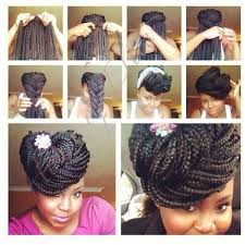 images of black braided bunstyle with bangs in back hairstyle 10 gorgeous ways to style box braids bglh marketplace