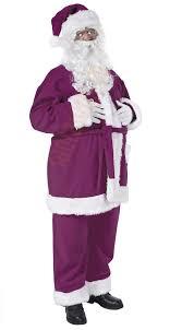 santa suit purple santa suit jacket trousers and hat santa suits