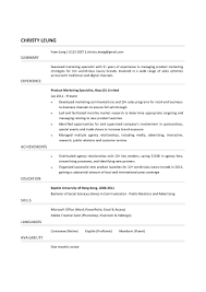 Logistics Resume Sample by Marketing Specialist Resume Resume For Your Job Application