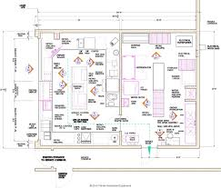 Sample Floor Plan Of A Restaurant by Plain Commercial Restaurant Kitchen Design Layout 2 A For
