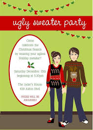 ugly christmas sweater party invitation wording reduxsquad com