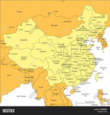 Map Of China Provinces by Download Map Of China And Surrounding Countries Major Tourist