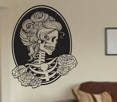 Wall Decals Amazon by Amazon Com Victorian Woman Skull Wall Vinyl Decal Sticker Art