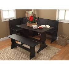 Dining Room Nooks Breakfast Nook 3 Corner Dining Set Black Walmart