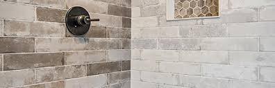 brick look tile bath shower company