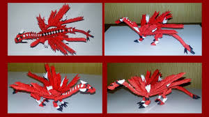 3d origami beginner tutorial 3d origami mini dragon very simple tutorial youtube