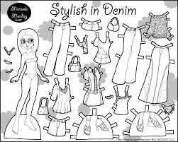 black and white marisole monday paper dolls today u2022 paper thin