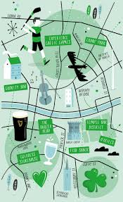 Bronx Map Illustrated Map Of Dublin The Best Illustrated Maps Pinterest