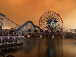 california wildfires eerie photos of disneyland business insider
