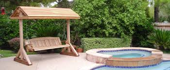 Swimming Pool Furniture by Furniture Cool Redwood Porch Swings For Outdoor Furniture Ideas
