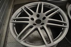 audi q7 21 inch sline wheels refinished powder coated to ti