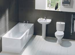 Modern Bathroom Suites by Black Porcelain Tile Of Wall Modern Bathroom With White Wooden