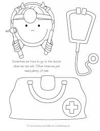 coloring page outline of doctor set medical instruments stock for