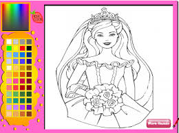 coloring pages appealing barbie printing games princess coloring