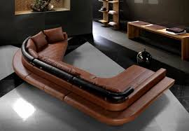 Modern Leather Couch Set Tosh Furniture Ultra Modern Dark Brown Leather Sectional Sofa Set