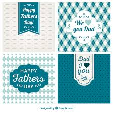 variety of fathers day cards vector free