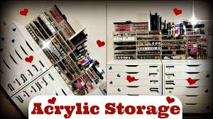hair and makeup storage collection storage my acrylic drawers and makeup storage system