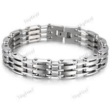 hand bracelet men images Fashion stainless steel link chain bracelet hand chain wrist jpg